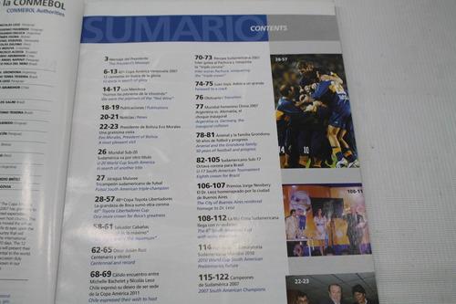 revista conmebol copa america venezuela 2007