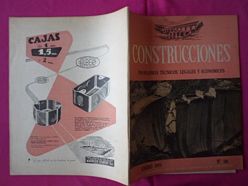 revista construcciones, nº 116, año: enero 1955