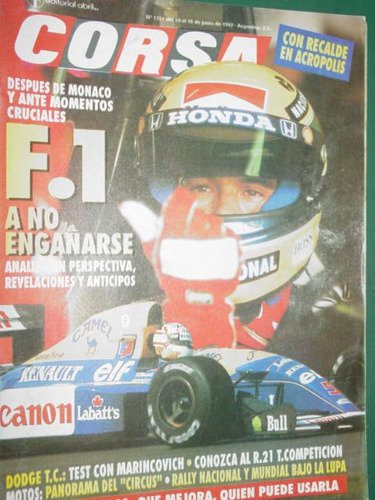revista corsa 1351 test dodge tc marincovich rally formula 1