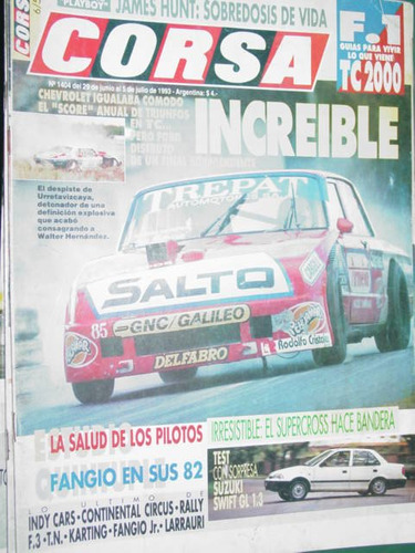 revista corsa 1404 test suzuki swift fangio rally james hunt