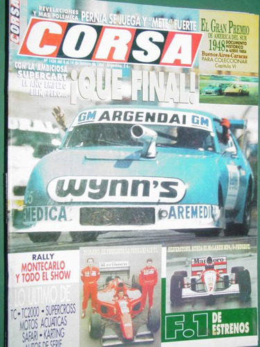 revista corsa 1436 pernia supercart ferrari rally f1 karting