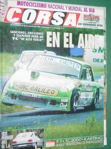 revista corsa 1473 test peugeot 405 karting rally transchaco