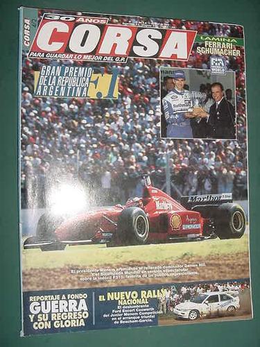 revista corsa 1549 formula 1 gran premio argentina s/poster