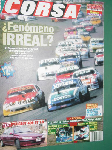 revista corsa 1624 test peugeot 406 ford chevrolet fontana f