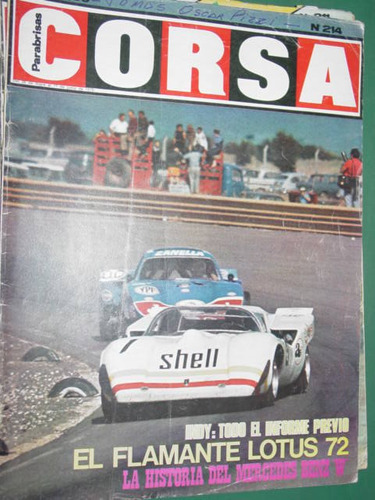 revista corsa 214 lotus indianapolis motocross mercedes w