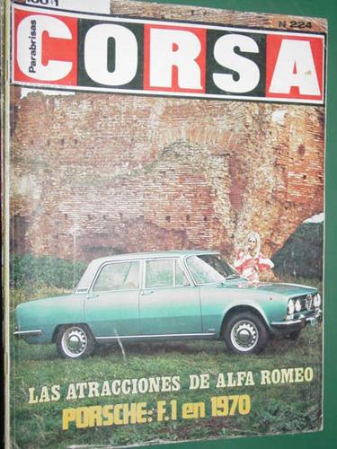 revista corsa 224 alfa romeo porsche cafeteras jochen rindt