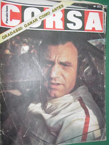 revista corsa 312 gradassi ford renn capri monocasco tubular