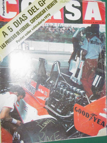revista corsa 606 reutemann gran premio f1 argentina galica