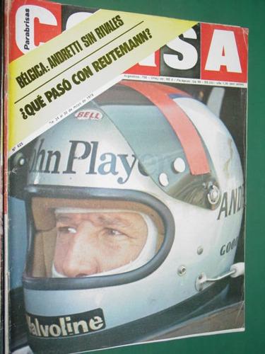 revista corsa 625 reutemann formula uno belgica andretti pau