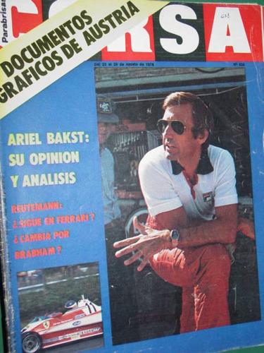 revista corsa 638 reutemann austria bakst ligier matra bmw m