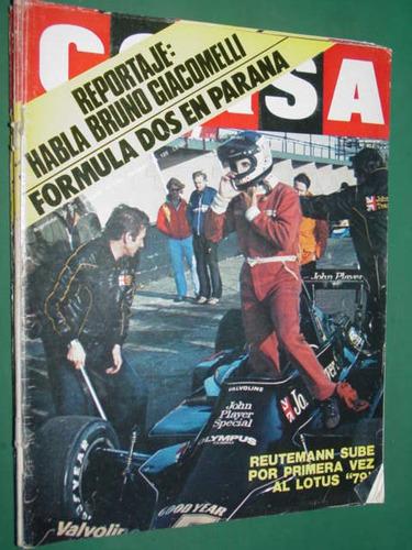 revista corsa 652 reutemann giacomelli porsche 924 alcuaz f1