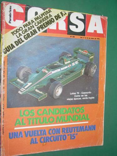 revista corsa 659 previa gp argentina brabham reutemann f1
