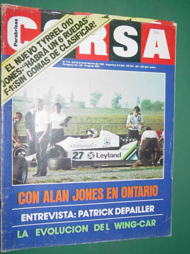 revista corsa 716 alan jones depailler tyrrell wing cars f1