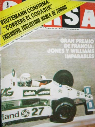 revista corsa 735 reutemann cecotto gran premio francia f1