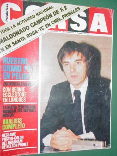 revista corsa 754 maldonado campeon ecclestone gordon murray