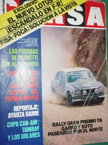 revista corsa 757 rally fangio lotus tambay ayarza garre