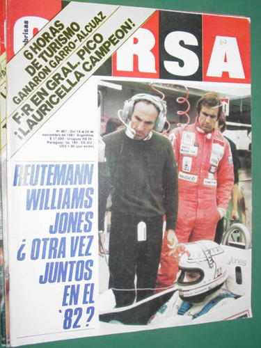 revista corsa 807 reutemann williams lauricella gral. pico