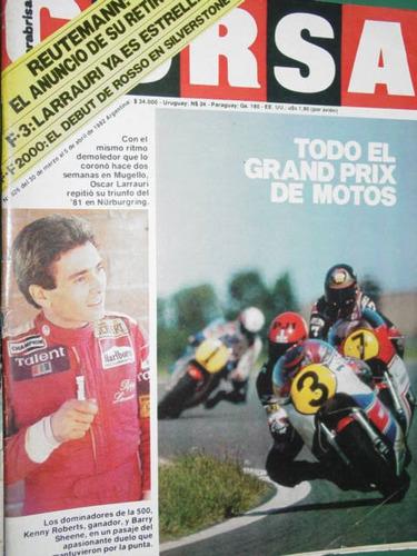 revista corsa 826 reutemann grand prix motociclismo rosso