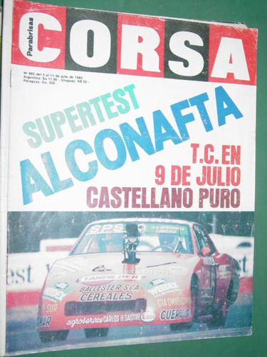 revista corsa 892 super test alconafta tc 9 julio castellano