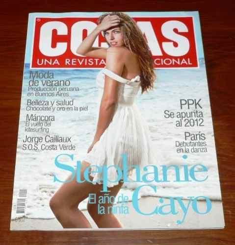revista cosas enero 2009 stephanie cayo ppk máncora verano