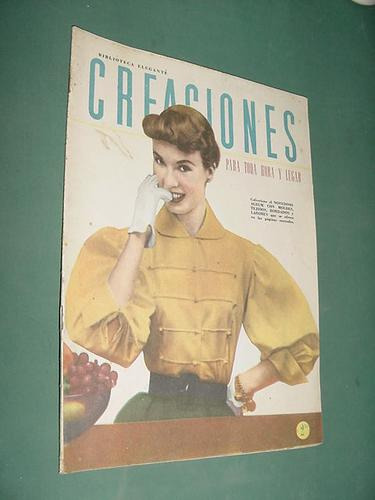 revista creaciones feb53 sombreros pequeños vestidos niñas