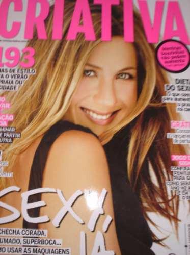 revista criativa - capa com jennifer aniston - janeiro 2009