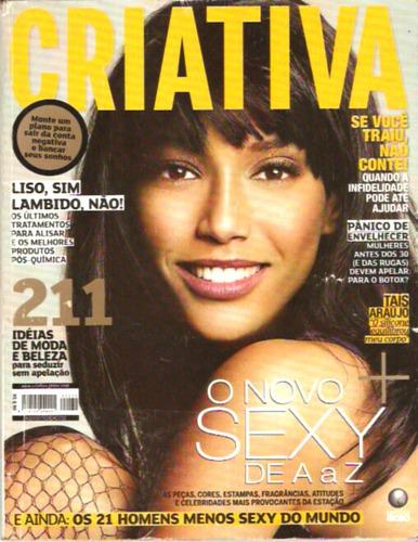 revista criativa - taís araújo - mais sexy de a a z