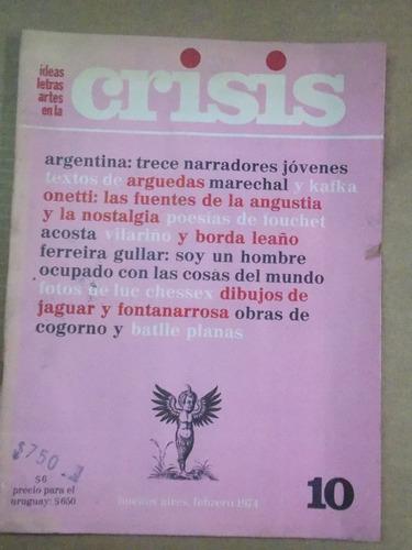 revista crisis, nº 10, letras, artes, ideas, 1974, argentina