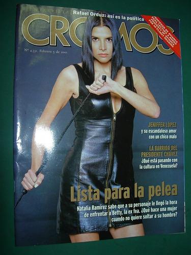 revista cromos colombi 5/2/01 natalia ramirez jennifer lopez