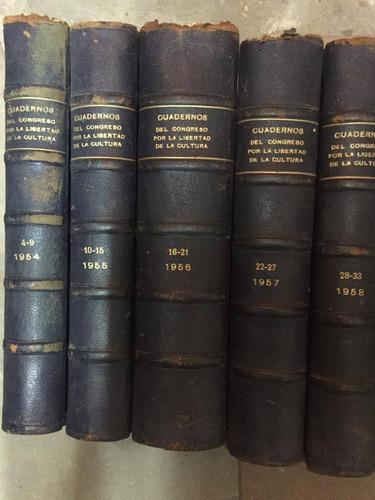 revista cuadernos.12 tomos de 6 numeros cada uno. 1954 al 63