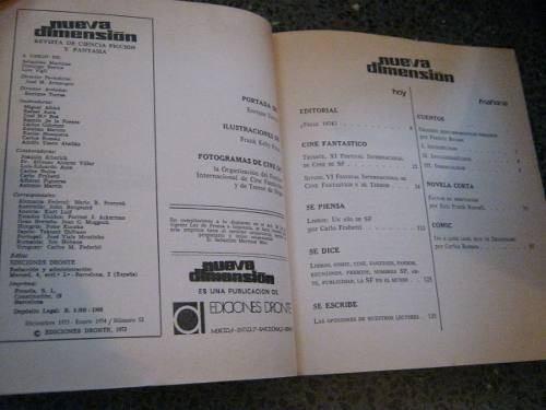revista de ciencia ficcion nueva dimension # 52 1974
