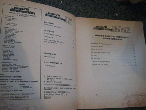 revista de ciencia ficcion nueva dimension extra #4 1970