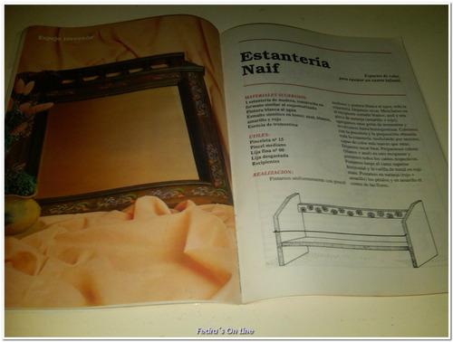 revista de colecciòn  creando pintura en madera