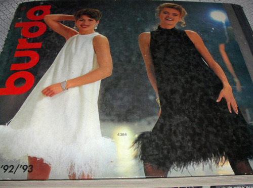 revista de costura burda winter 92-93 -  moda retro