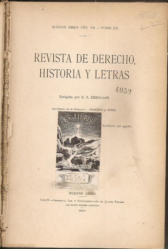revista de derecho, historia y letras director  e.s. zeballo