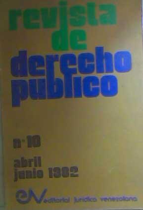 revista de derecho público abr-jun 1982