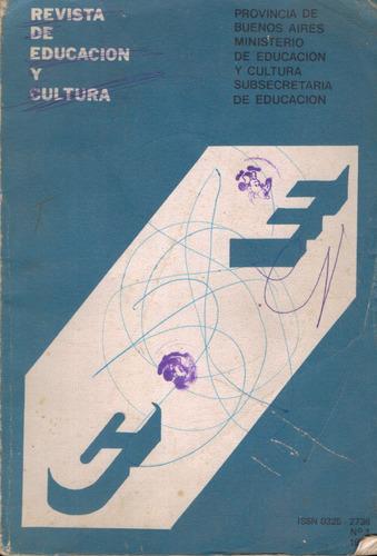 revista de educacion y cultura - n° 01 - 1980