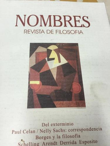 revista de filosofia. nombres. nº 11-12. octubre 1998