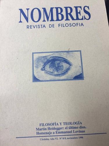 revista de filosofia. nombres. nº 8-9. noviembre 1996