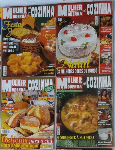 revista de receita mulher moderna na cozinha 5 volume