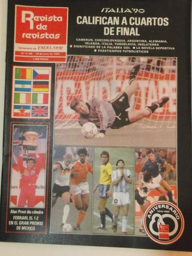 revista de revistas - mundial futbol italia 90