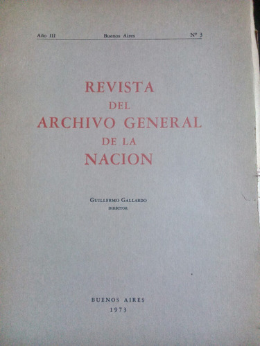 revista del archivo general de la nación.  núm. 3