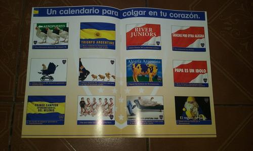 revista del calendario boca 2001 nº1 supergol s a inedita