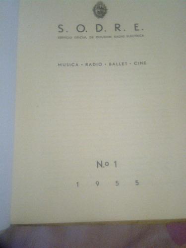 revista del sodre,numero 1 del año 1955
