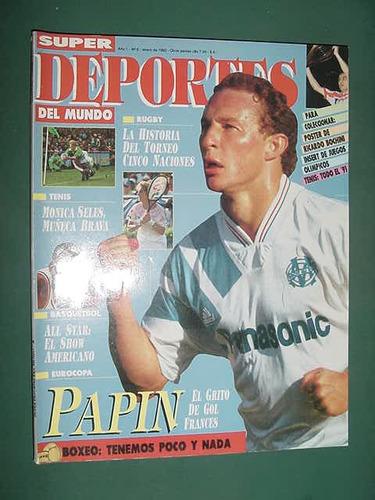 revista deportes mundo 6 futbol papin francia monica seles
