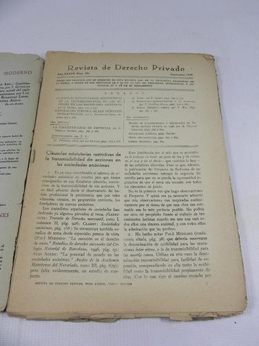 revista derecho privado españa 1949