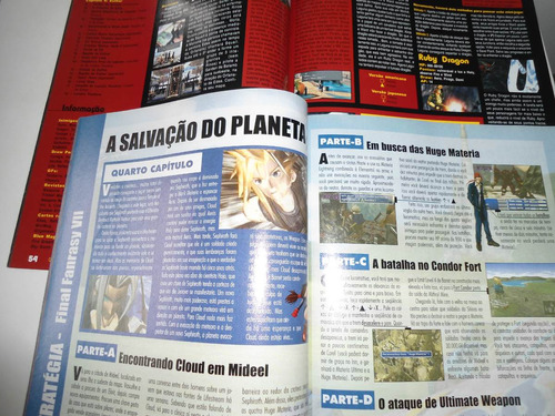 revista detonado final fantasy 7 e 8