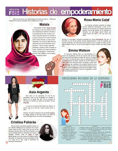 revista digital feminismo 100% imprimible y editable a color