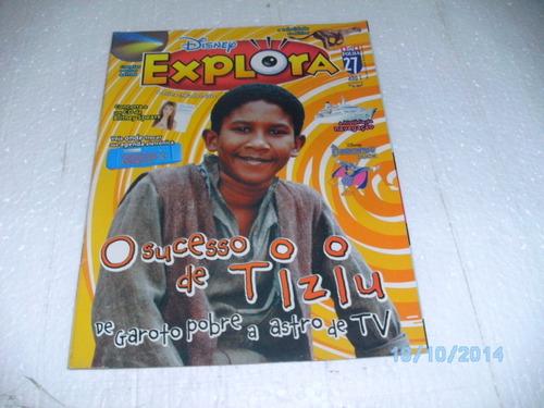 revista disney explora ano 1 nº27 o sucesso d tiziu nov.2009
