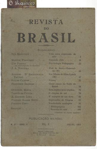 revista do brasil - nº 37  - 1919